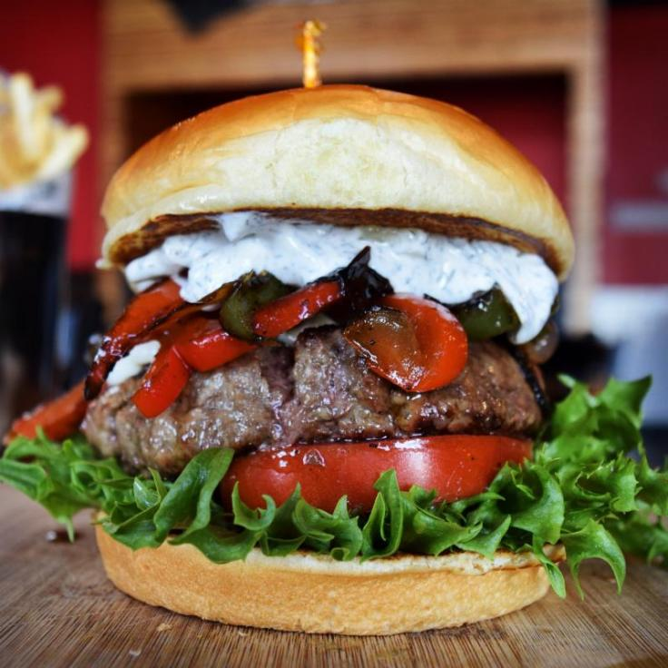 The Rail Lamb Burger