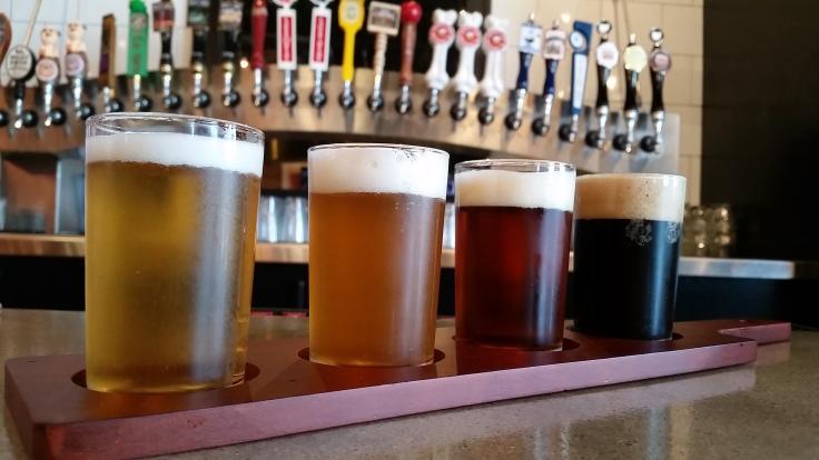 Flight of all-Ohio beer.